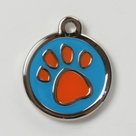 hondenpenning pawprint orange
