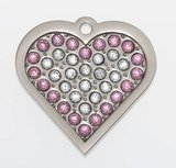 "Sparkling Bling Pink Heart ""Coco""_4"