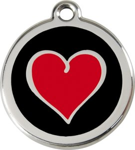 Red Dingo Heart Black