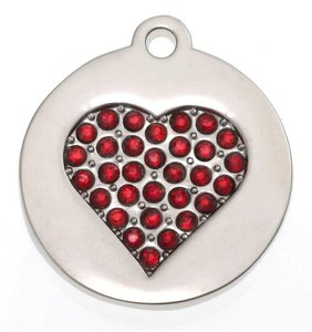 Sparkling Bling Red Heart small