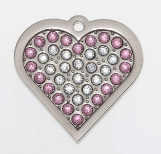 "Sparkling Bling Pink Heart ""Coco"""